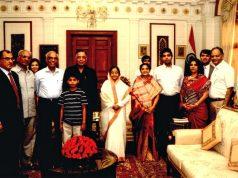 B D Mundhra and family with President Pratibha Patil